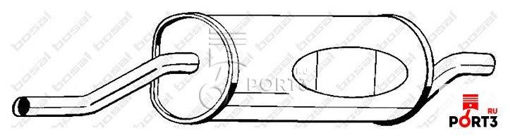 глушитель выхлопных газов bosal bmw-528 e28