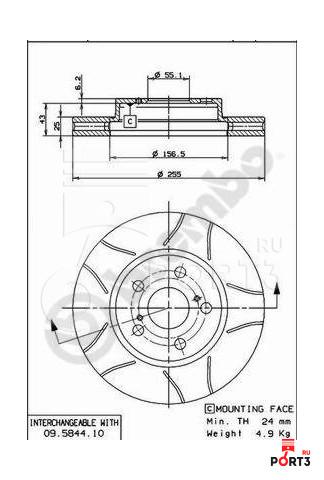 Тормозной диск передний вент