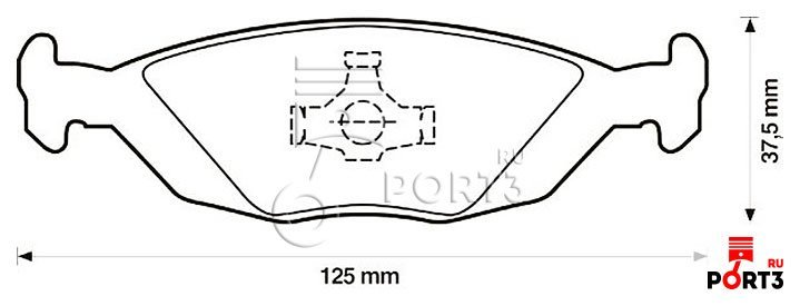 Колодки тормозные дисковые передн saab: 900 i 85-93, 900 i combi coupe 85-94, 900 i кабрио 86-94, 9000 85-98, 9000