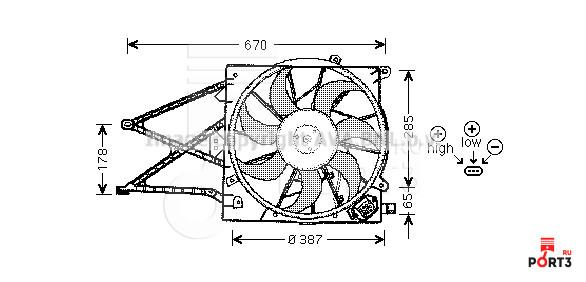 Электровентелятор система охлаждения опель зафира
