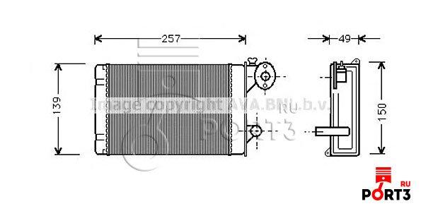 Ava quality cooling теплообменник отопление салона vw6128 пластинчатые разборные теплообменник
