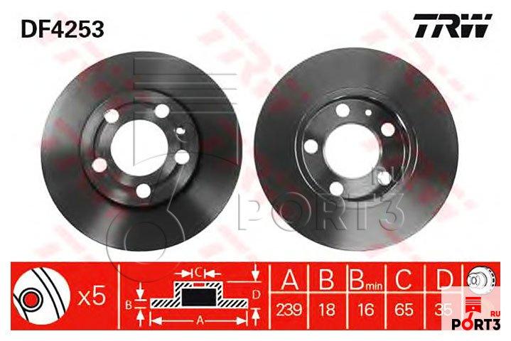 skoda fabia 2010 1.2 тормозной диск