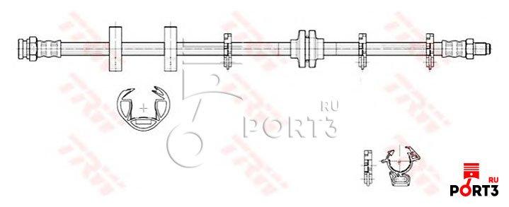 тормозной шланг передний на fiat tipo1.4