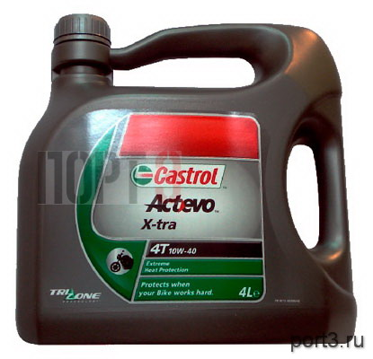 Моторное масло Castrol ACT EVO X-TRA 4T 10W-40 4л