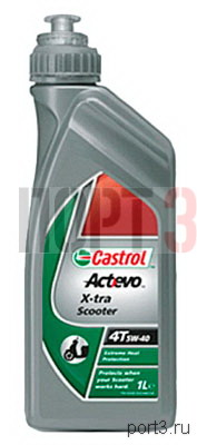 Моторное масло Castrol ACT EVO X-TRA SCOOTER 4T 5W-40 1л