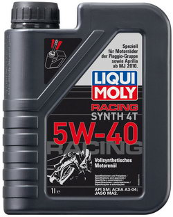 Моторное масло Liqui moly Racing Synth 4T 5W-40 1л