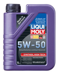 Моторное масло Liqui moly Synthoil High Tech 5W-50 1л