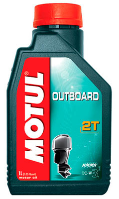 Моторное масло Motul 2T Outboard 1л