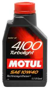 Моторное масло Motul 4100 Turbolight 1л