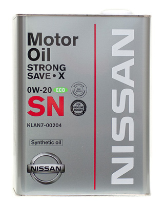 Моторное масло Nissan Strong Save X 0W-20 SN 4л