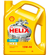 Моторное масло Shell Helix Diesel HX5 4л