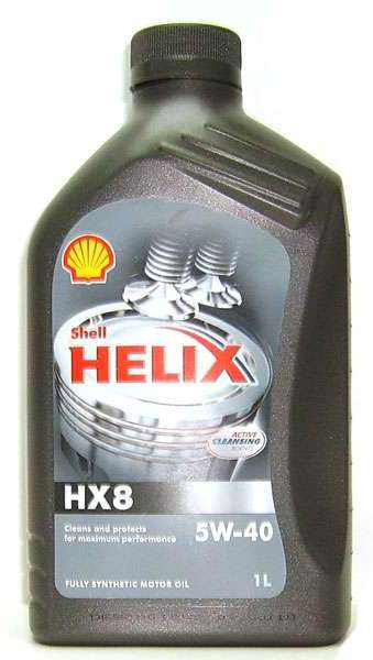 Моторное масло Shell Helix HX8 Synthetic 5W-40 1л