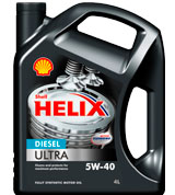 Моторное масло Shell Helix Diesel Ultra 5W-40 4л