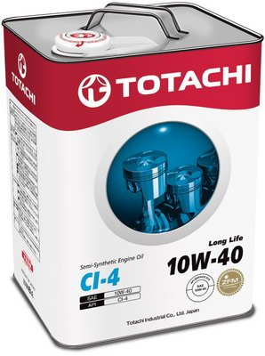 Моторное масло Totachi Long Life 10W-40 CI-4 6л