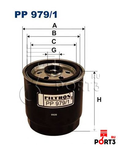 PP979/1 Топливный фильтр FILTRON (Фильтрон) - описание, фото, аналоги