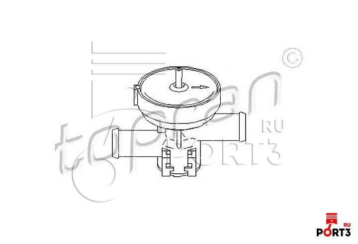 регулирующий клапан охлаждающей жидкости опель омега б