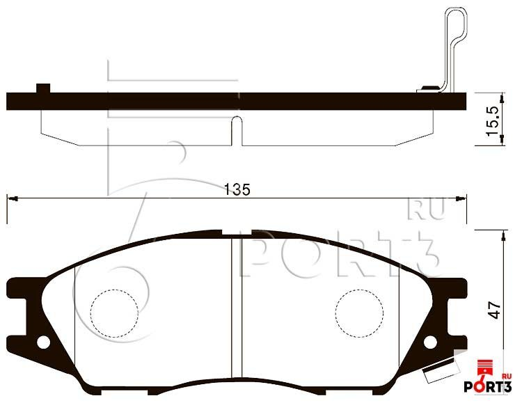 SP1156 Колодки тормозные передние Nissan Almera Classic 06- SANGSIN (Сангшин) - описание, фото, аналоги